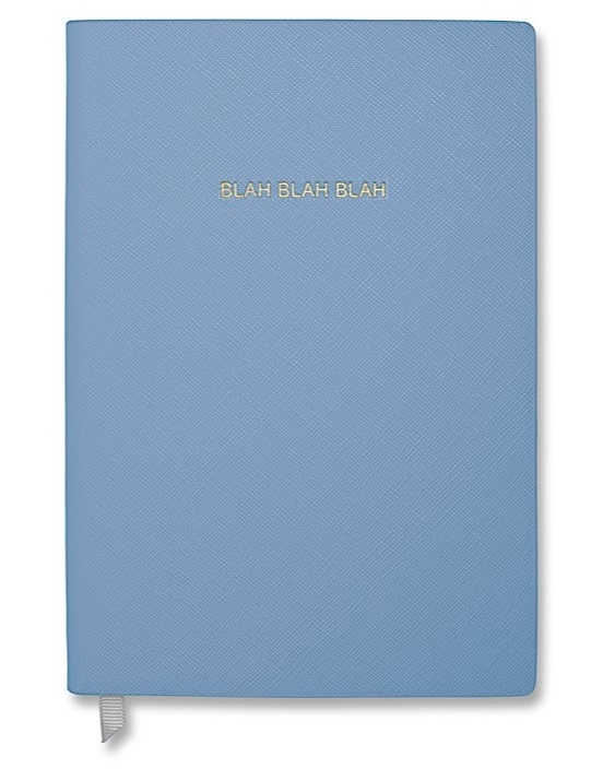 Cornflower Blue Blah Blah Blah Katie Loxton luxury notebook