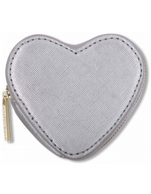 Metallic Silver Heart katie loxton gold zip purse