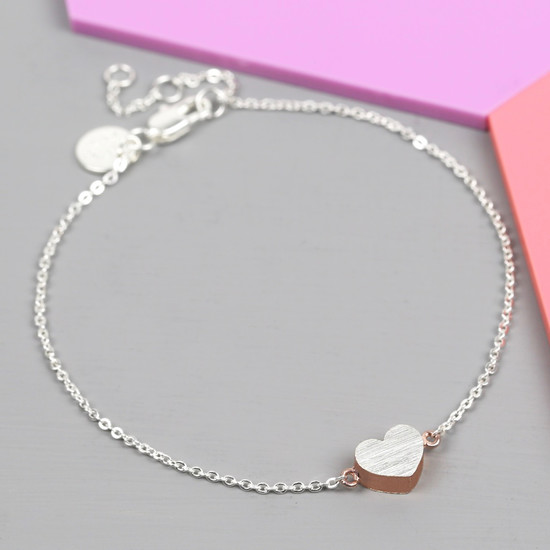 brushed-silver-and-rose-gold-heart-bracelet-O21A6070.-550×550